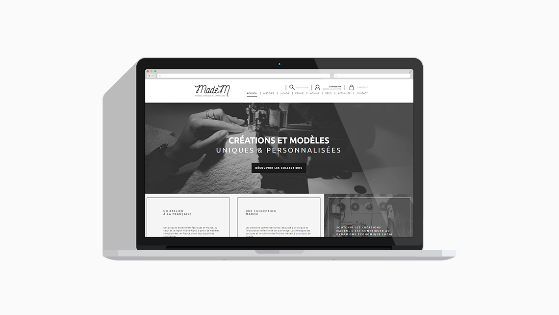 Madem site ecommerce responsif