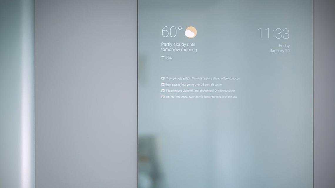 Objets connect s et miroir intelligent une nouvelle for Miroir intelligent